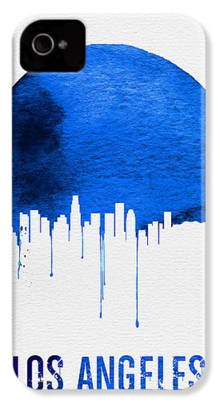 Los Angeles Skyline Blue IPhone 4s Case by Naxart Studio