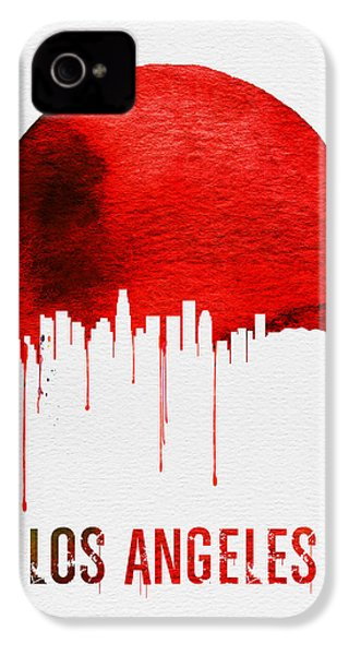 Los Angeles Skyline Red IPhone 4s Case by Naxart Studio
