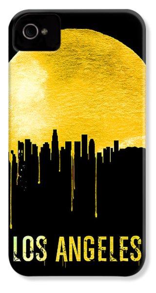 Los Angeles Skyline Yellow IPhone 4s Case by Naxart Studio
