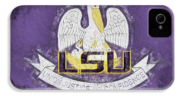 IPhone 4s Case featuring the digital art Louisiana Lsu State Flag by JC Findley