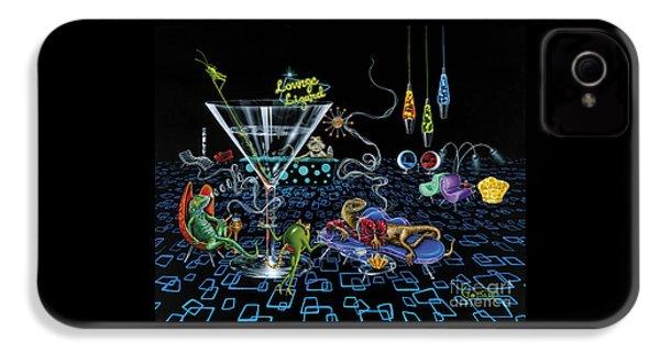 Lounge Lizard IPhone 4s Case by Michael Godard