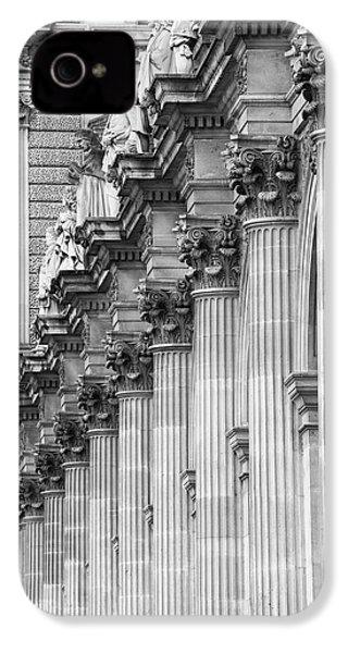 IPhone 4s Case featuring the photograph Louvre Pillars, Paris, 2015 by Hitendra SINKAR