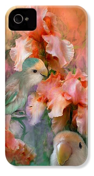 Love Among The Irises IPhone 4s Case by Carol Cavalaris