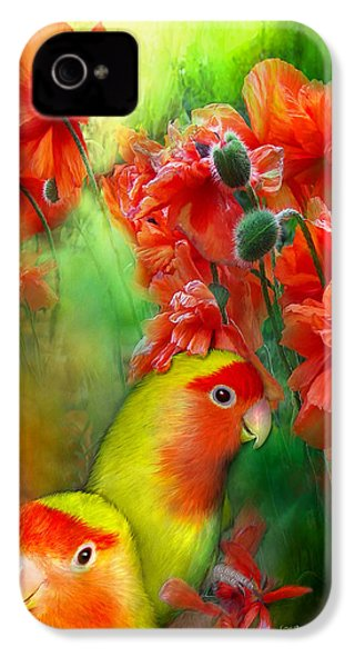 Love Among The Poppies IPhone 4s Case by Carol Cavalaris