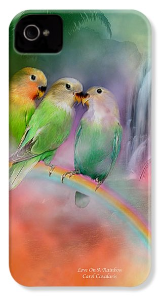 Love On A Rainbow IPhone 4s Case by Carol Cavalaris