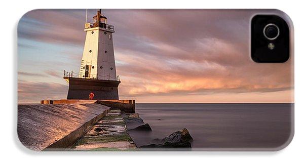 IPhone 4s Case featuring the photograph Ludington Light Sunrise Long Exposure by Adam Romanowicz