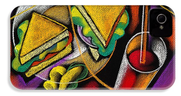 Lunch IPhone 4s Case by Leon Zernitsky