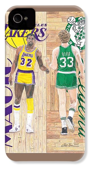 Magic Johnson And Larry Bird IPhone 4s Case