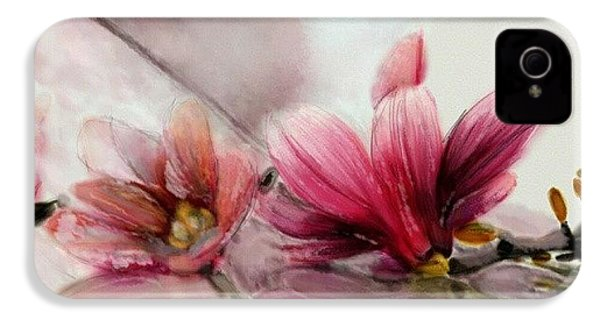 Magnolien .... IPhone 4s Case by Jacqueline Schreiber