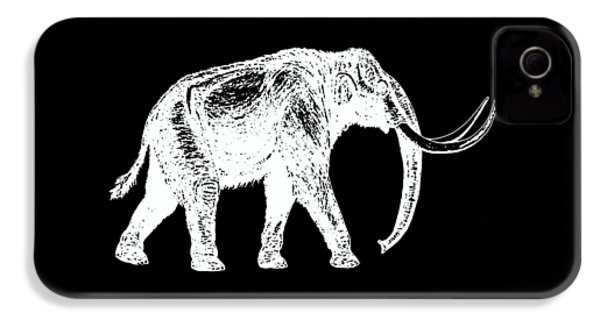 Mammoth White Ink Tee IPhone 4s Case by Edward Fielding