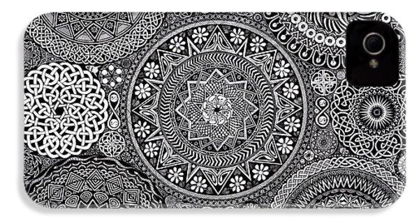 Mandala Bouquet IPhone 4s Case by Matthew Ridgway