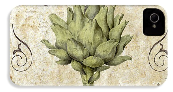 Mangia Carciofo Artichoke IPhone 4s Case by Mindy Sommers