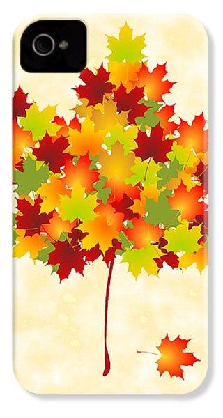 Maple Leaves IPhone 4s Case by Anastasiya Malakhova