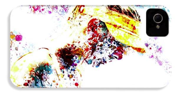 Maria Sharapova Paint Splatter 4p                 IPhone 4s Case by Brian Reaves