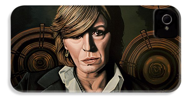 Marianne Faithfull Painting IPhone 4s Case by Paul Meijering