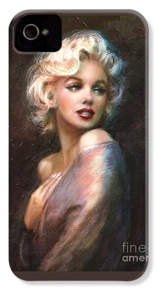Marilyn Romantic Ww 1 IPhone 4s Case by Theo Danella