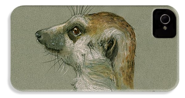 Meerkat Or Suricate Painting IPhone 4s Case
