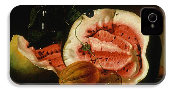 Melons And Morning Glories  IPhone 4s Case by Raphaelle Peale