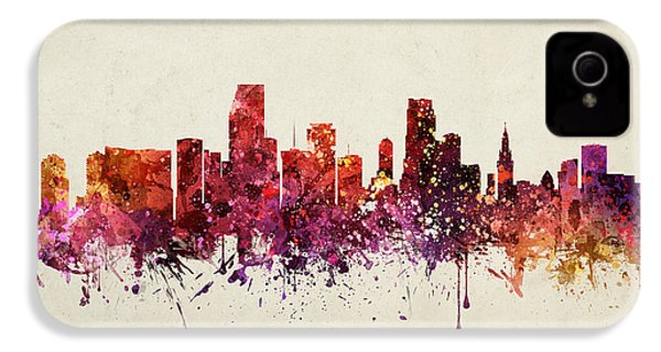 Miami Cityscape 09 IPhone 4s Case by Aged Pixel