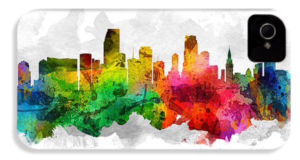 Miami Florida Cityscape 12 IPhone 4s Case by Aged Pixel