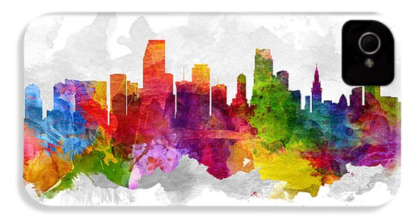 Miami Florida Cityscape 13 IPhone 4s Case by Aged Pixel