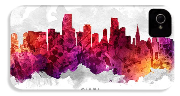 Miami Florida Cityscape 14 IPhone 4s Case by Aged Pixel