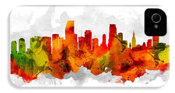 Miami Florida Cityscape 15 IPhone 4s Case by Aged Pixel