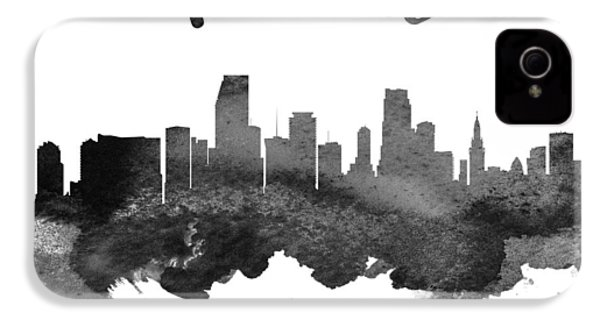 Miami Florida Skyline 18 IPhone 4s Case by Aged Pixel