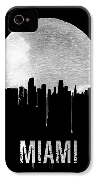 Miami Skyline Black IPhone 4s Case by Naxart Studio