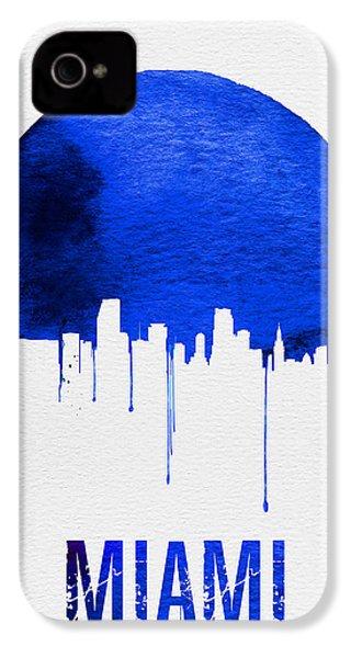 Miami Skyline Blue IPhone 4s Case by Naxart Studio