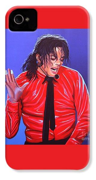 Michael Jackson 2 IPhone 4s Case by Paul Meijering