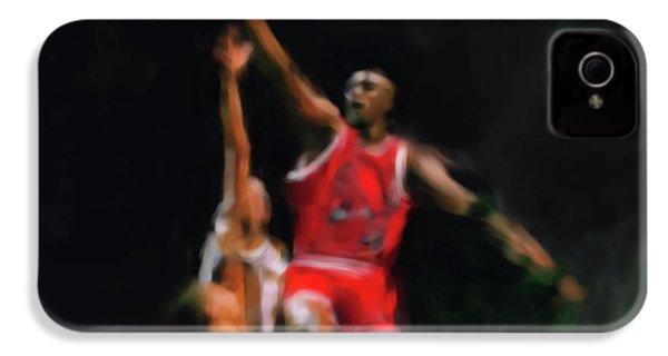 Michael Jordan 548 1 IPhone 4s Case by Mawra Tahreem