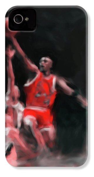 Michael Jordan 548 3 IPhone 4s Case by Mawra Tahreem