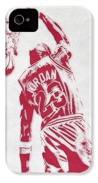 Michael Jordan Chicago Bulls Pixel Art 1 IPhone 4s Case by Joe Hamilton