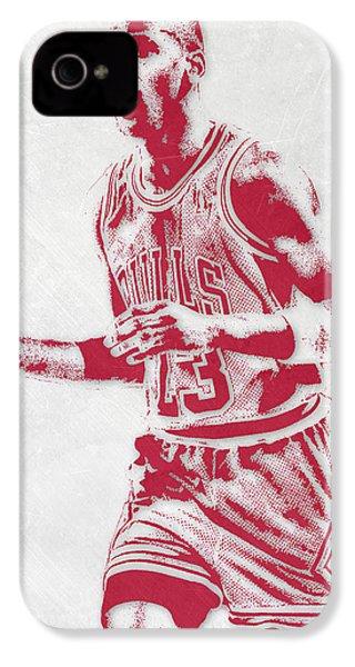 Michael Jordan Chicago Bulls Pixel Art 2 IPhone 4s Case by Joe Hamilton