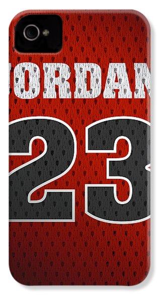 Michael Jordan Chicago Bulls Retro Vintage Jersey Closeup Graphic Design IPhone 4s Case by Design Turnpike