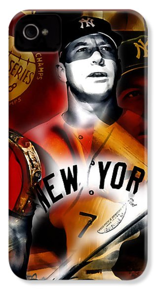 Mickey Mantle Collection IPhone 4s Case by Marvin Blaine
