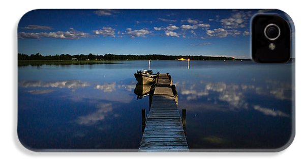 Midnight At Shady Shore On Moose Lake Minnesota IPhone 4s Case by Alex Blondeau