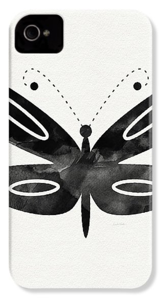 Midnight Butterfly 1- Art By Linda Woods IPhone 4s Case by Linda Woods
