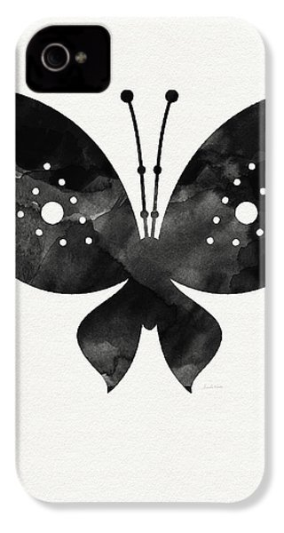 Midnight Butterfly 2- Art By Linda Woods IPhone 4s Case by Linda Woods
