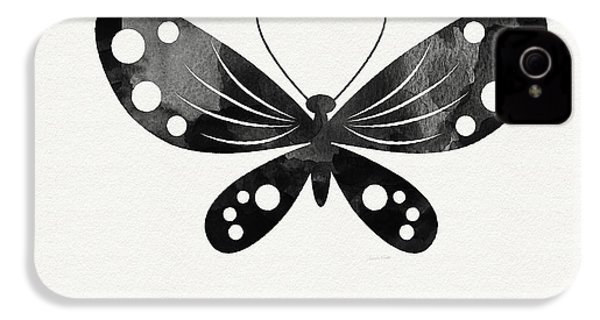 Midnight Butterfly 3- Art By Linda Woods IPhone 4s Case by Linda Woods