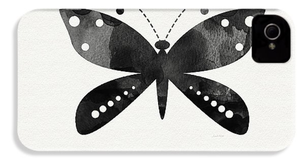 Midnight Butterfly 4- Art By Linda Woods IPhone 4s Case by Linda Woods