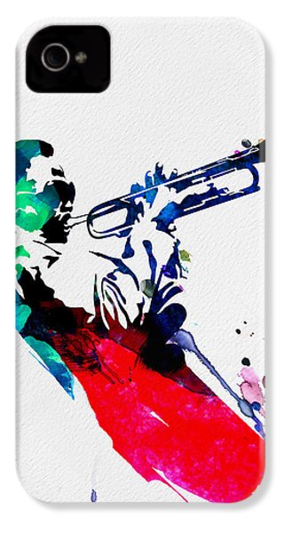 Miles Watercolor IPhone 4s Case by Naxart Studio