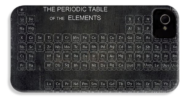 Minimalist Periodic Table IPhone 4s Case by Daniel Hagerman