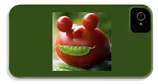 Mister Tomato IPhone 4s Case by Yulia Kazansky