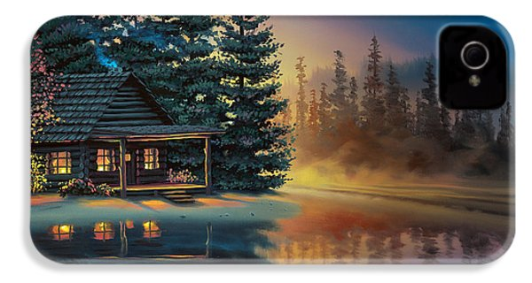IPhone 4s Case featuring the painting Misty Refection by Al Hogue