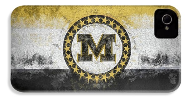 IPhone 4s Case featuring the digital art Mizzou State Flag by JC Findley