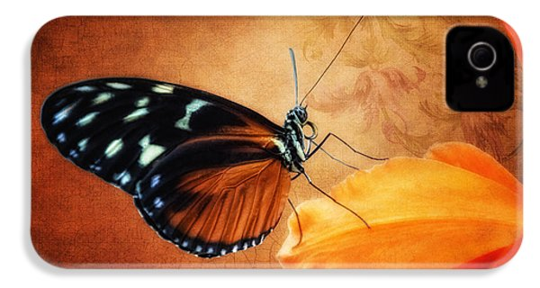 Monarch Butterfly On An Orchid Petal IPhone 4s Case by Tom Mc Nemar