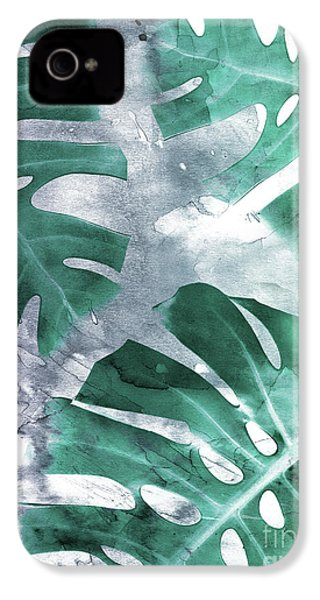 Monstera Theme 1 IPhone 4s Case by Emanuela Carratoni
