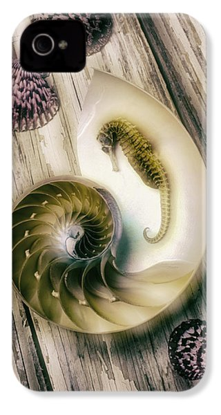 Moody Seahorse IPhone 4s Case by Garry Gay